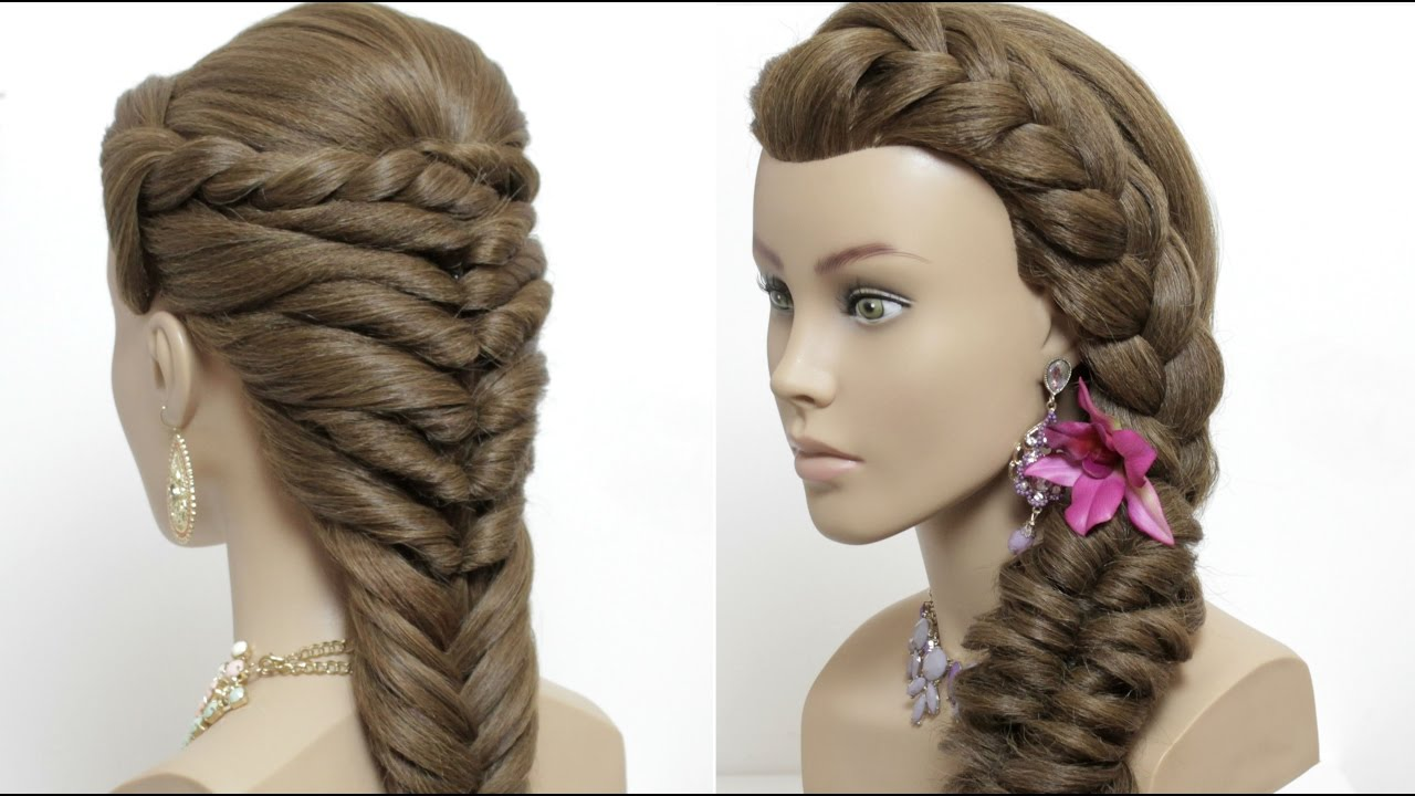 2 easy hairstyles for long hair tutorial. Cute summer ...