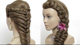 2 easy hairstyles for long hair tutorial. Cute summer  braids