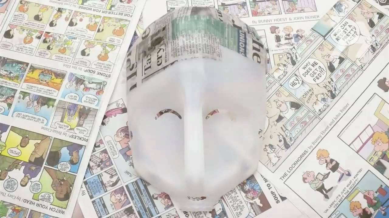 How To Make A Papier Mache Mask   YouTube