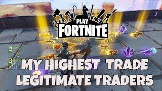 FORTNITE SAVE THE WORLD JAMESZBAH YT #13 MY HIGHEST TRADE LEGITIMATE TRADERS