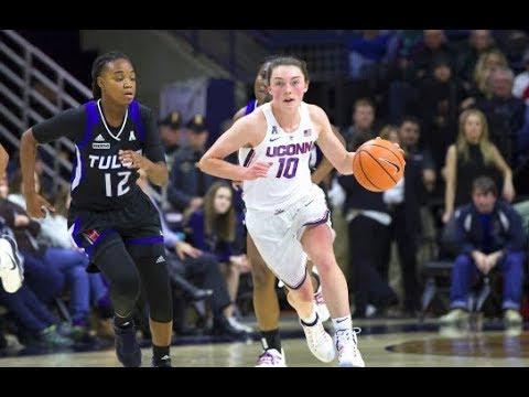 UConn Women's Basketball Highlights v. Tulsa 01/18/2018