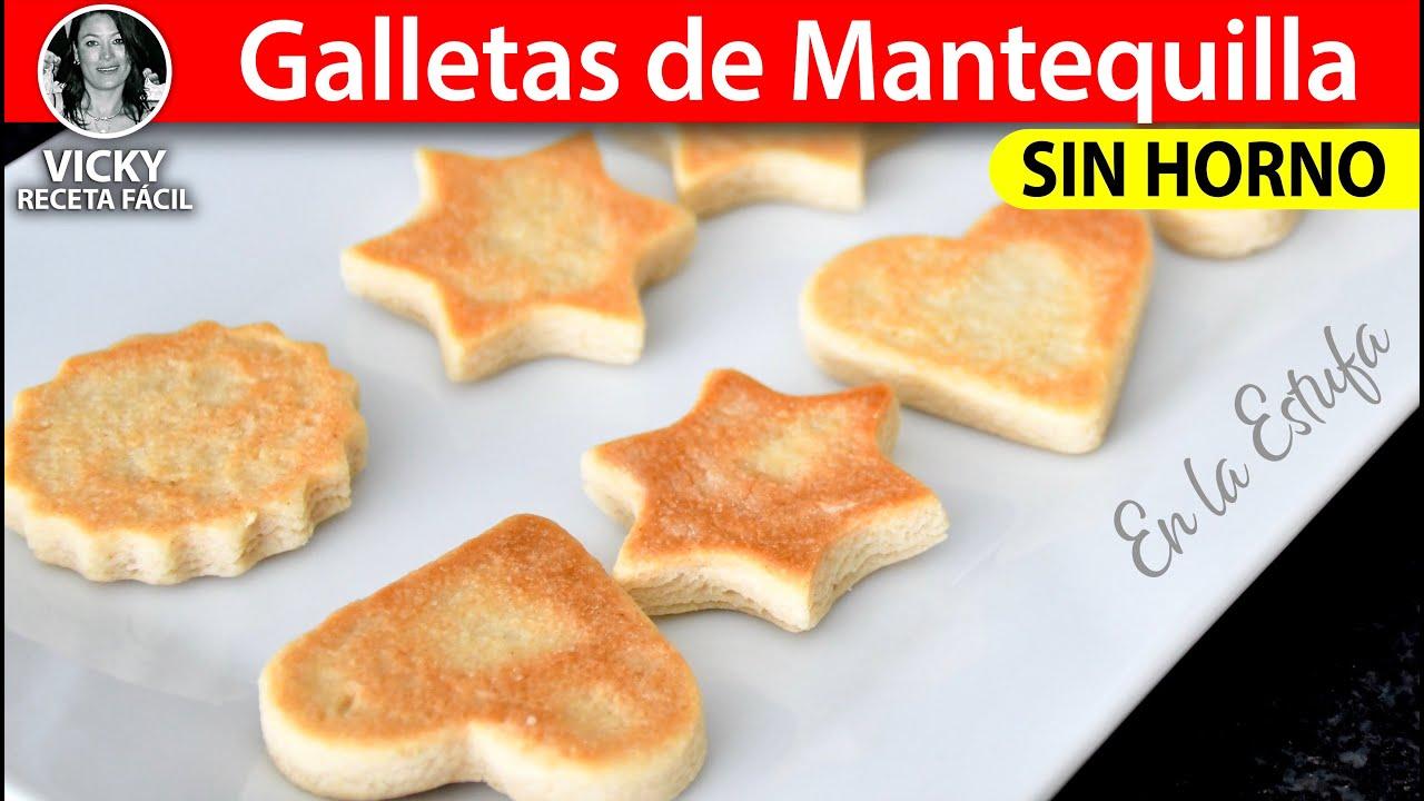 Galletas de Mantequilla Sin Horno | #VickyRecetaFacil