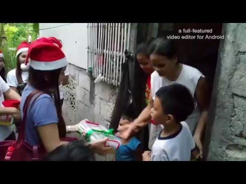 Christmas gift giving at Bacong, Philippines.