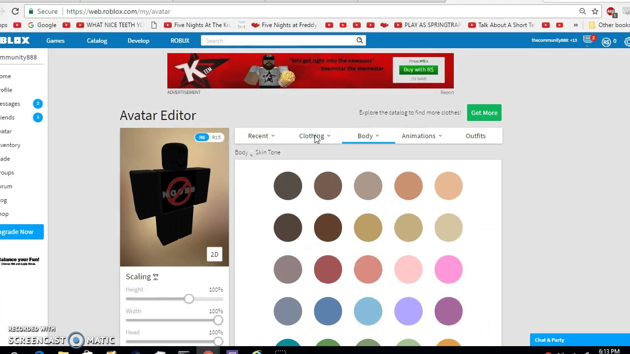 How To Change Your Skin Tone In Roblox Youtube