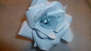 Paper Rose Tutorial / Бумажные розы. Мастер-класс.