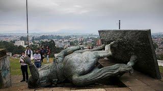 Colombie : la statue d'un conquistador déboulonnée