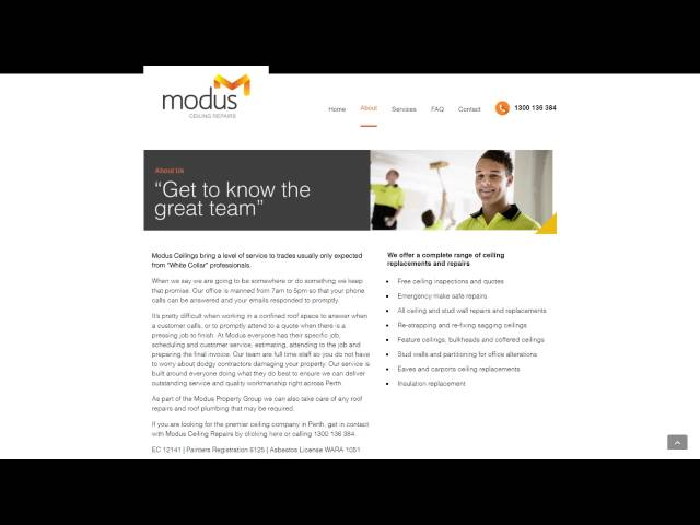 Modus Ceilings   Website Preview