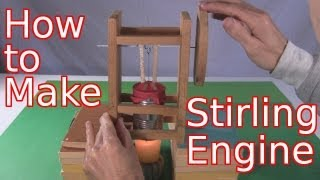 How to make a Stirling engine using a tomato paste can and other ho...