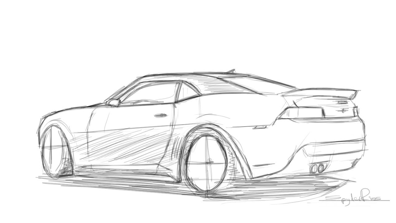 Drawing A 2014 Camaro Z28 Part 2 Youtube