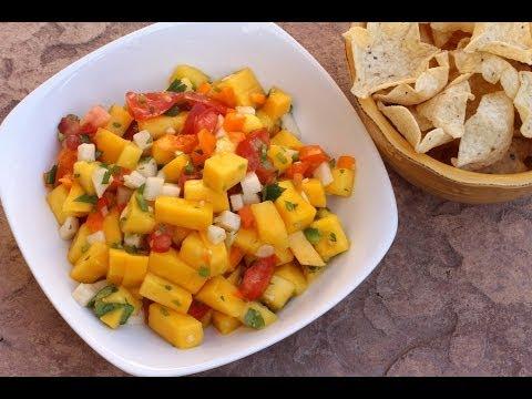 Mango Salsa Recipe With Tomato Cilantro Jicama And More By Rockin Robin
