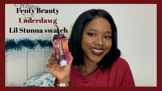 new-fenty-beauty-tinsel-show-collection-underdawg-lil-stunna-lip-paint-on-dark-skin