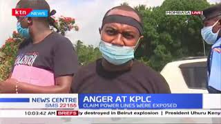 Kwale activists and residents demonstrate after young woman and baby were electrocuted
