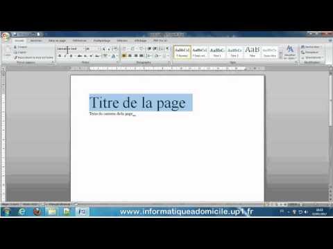 Découverte de Word Traitement de texte