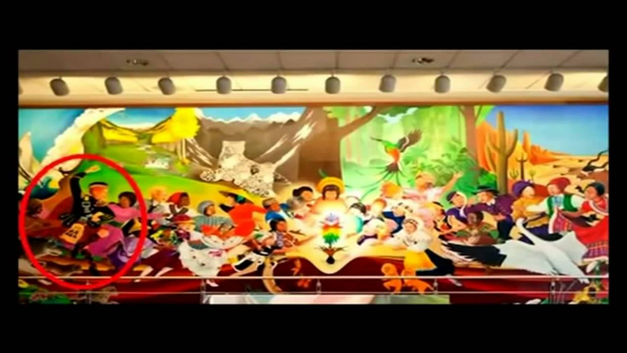 Denver New World Airport Amp Bank Of America Paintings YouTube