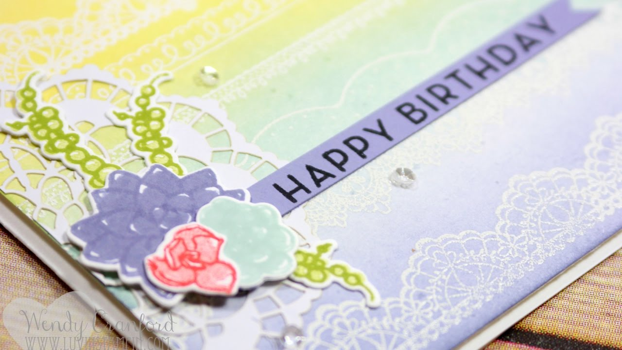 How To Create A Simple Background For A Birthday Card Youtube