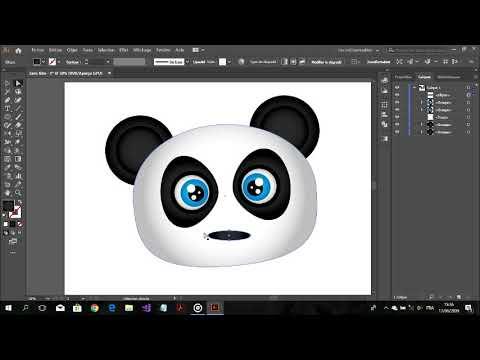 draw a panda- Adobe Illustrator Drawing Tutorial thumbnail