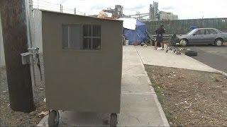 Washington group creates portable shelters for homeless