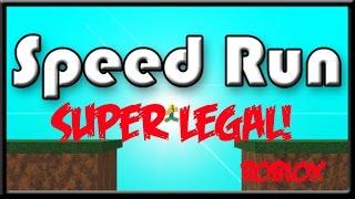 SPEED RUN NO ROBLOX!