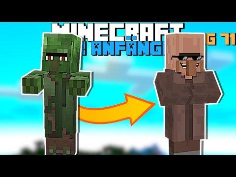 Wie Heilt Man Einen Zombie Villager In Minecraft 1.14 | Minecraft Für Anfänger Tag 71