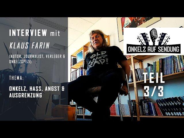 Böhse Onkelz Interview mit Klaus Farin (Buch der Erinnerungen) 3/3: