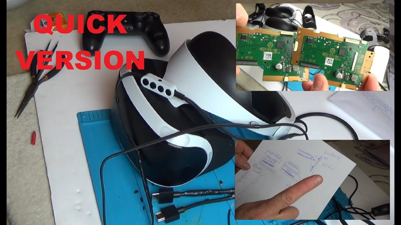 Trying to FIX a Faulty PlayStation VR Headset (PSVR) QUICK VERSION