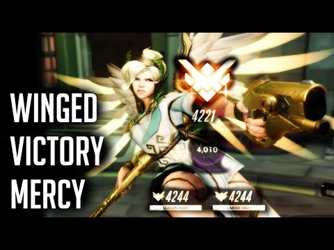 [Overwatch] 4221 Winged Victory Mercy on Kings Row