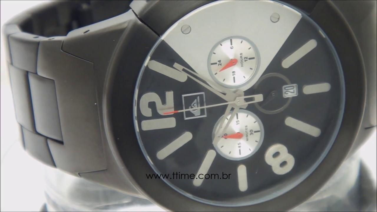 c921abf20ee Relógio Quiksilver Kaspian Metal M121CFC BLK - YouTube