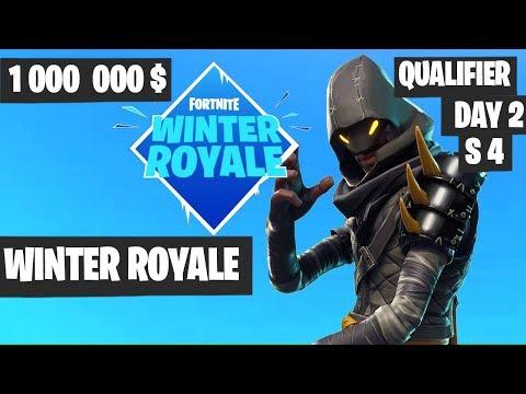 Fortnite Winter Royale Qualifier Day 2 Session 4 Highlights [Fortnite Tournament 2018]
