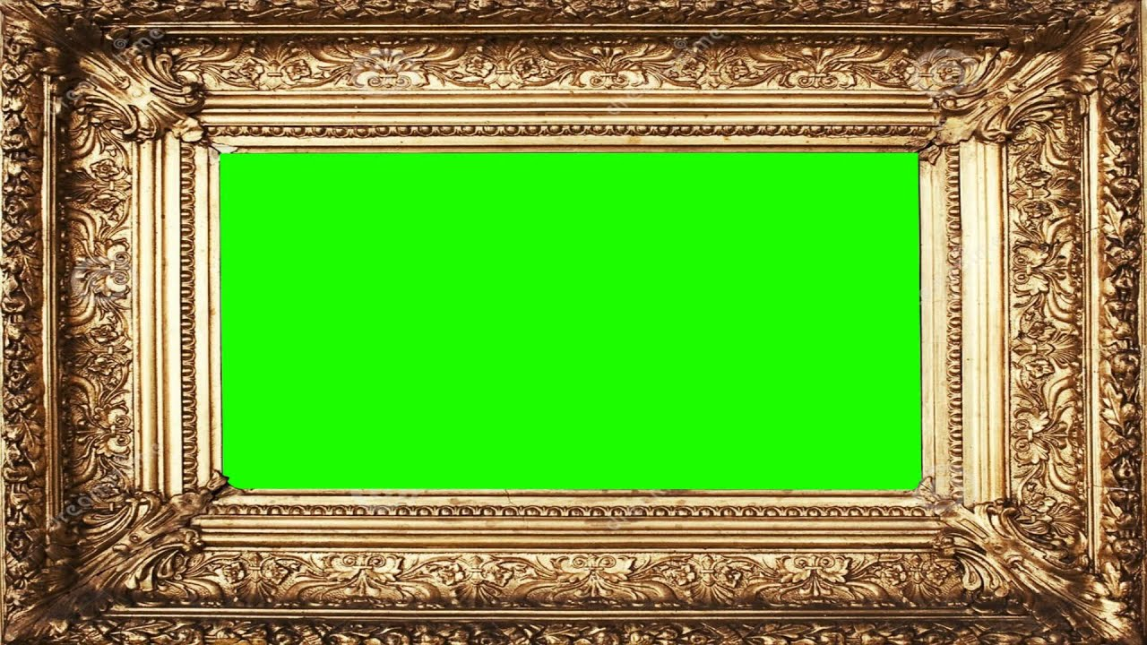 beauiful classic photo frame in green screen free stock footage youtube