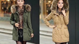 видео зимние куртки женские