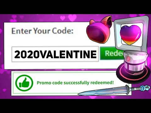 NEW FREE ITEMS AND WORKING PROMO CODES FOR ROBLOX (FEBRARY 2020)