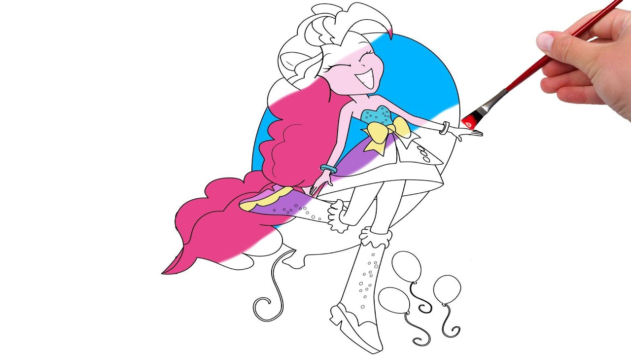 my little pony pinkie pie equestria girls coloring pages youtube