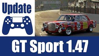 Gran Turismo Sport Update 1.47 mit Spa, Merc 300 SEL, Porsche Taycan