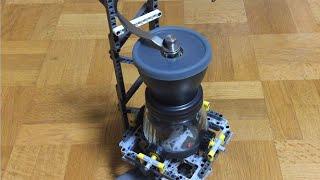 【レゴ】コーヒーミルを電動化したくて、装置を作った結果…?