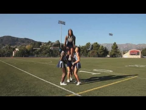 How to Do an Extension into a Cradle | Cheerleading