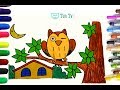 How to Draw a Cute Cartoon Owl Easy step by step