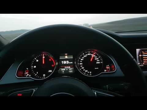Audi A5 multitronic 2014 acceleration 0 - 195 km/h