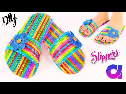 Thumbnail: How to make drinking straw slippers at home | Best out of waste | Artkala 244