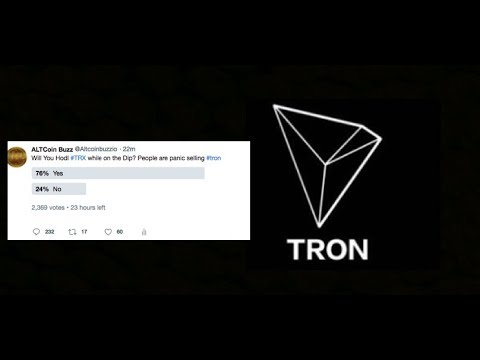Tron Update  Majority of People Will Hodl Tron Twitter Poll