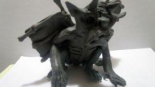 Фантастические существа из пластилина - Горгулья