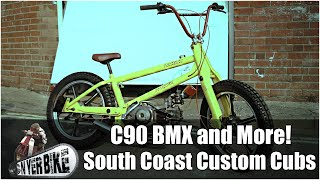 A BMX With a C90 Engine and more! South Coast Customs Devine Honda C90s