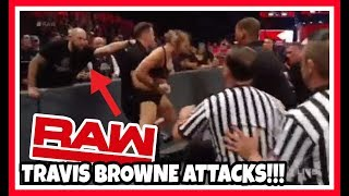 RONDA ROUSEY & TRAVIS BROWNE ATTACK WWE SECURITY | WWE Raw 3/18/19 Reaction