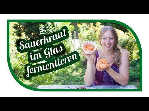 Sauerkraut selber machen 🍜 ganz einfach im Glas