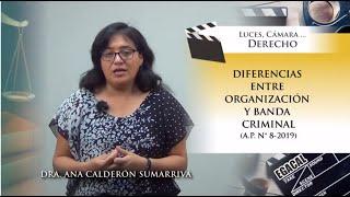 DIFERENCIAS ENTRE ORGANIZACIÓN Y BANDA CRIMINAL (A.P. 8-2019)  - Luces Cámara Derecho 155 - EGACAL thumbnail