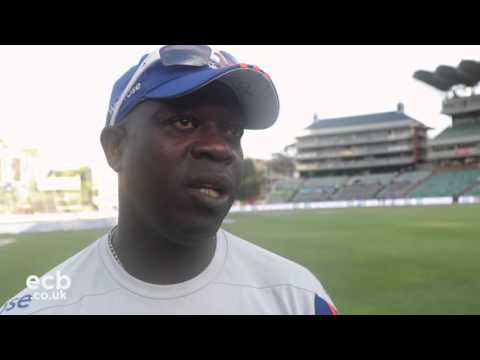 Ottis Gibson satisfied with seven wickets on day one