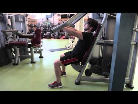 Chest press - Bloomsbury Fitness Exercise Videos