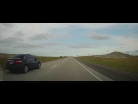 Driving on I90 across South Dakota from Wall to Sioux Falls