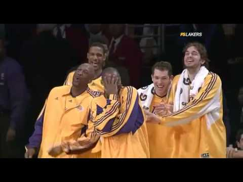Shannon Brown AMAZING Block & Laker Bench Goin Nuts!