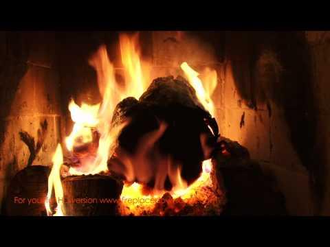 Virtual HD Fireplace video 1080p (Large Log fire) - Fireplace Downloads