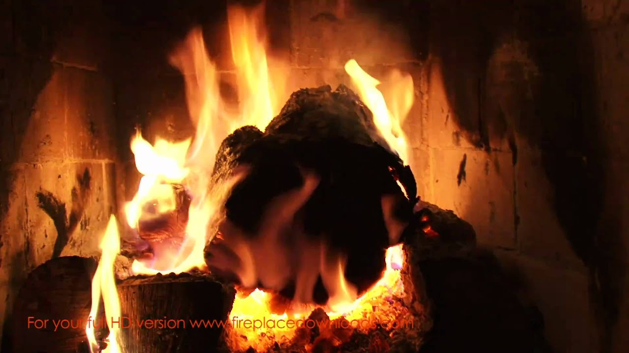 Virtual HD Fireplace video 1080p (Large Log fire) - Fireplace ...